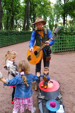 Выступление в Летнем саду